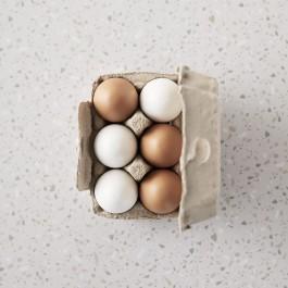Θήκη με 6 ξύλινα αυγά