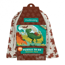 Puzzle to go - Dinos in a bag, 36pcs