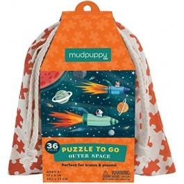 Puzzle to go - Outer space in a bag, 36pcs