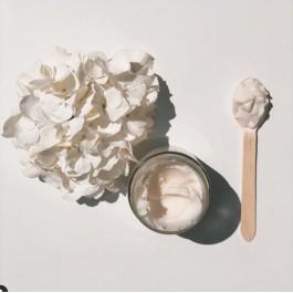 Φυσική πλαστελίνη Bluberry 150gr -  Λευκό Coconut