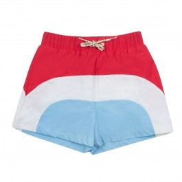 Victor Poppy Seed Tricolor- Swim Trunks