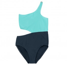 Swimsuit for girls - Jenny Poppy Seed Grey