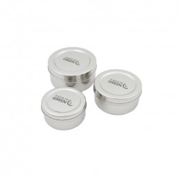 Set of 3 Round Containers - Kadapa