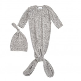 Snuggle knit gown & hat set