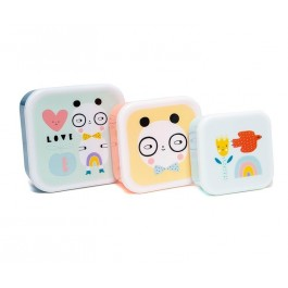 Lunch Box Panda Love - Σετ 3 τεμαχίων