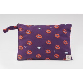 Waterproof Bag Woven - Lips Purple