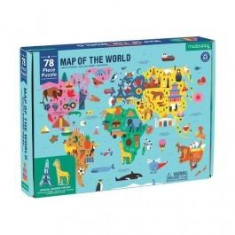 Παζλ - Χάρτης του κόσμου
