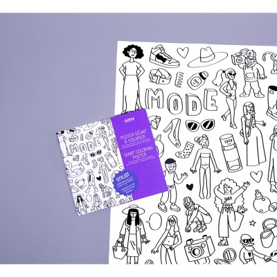 Coloring Poster Fashion