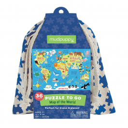 Puzzle to go - World in a bag, 36pcs