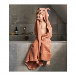 Hooded οργανική πετσέτα μπάνιου - Panda Tuscany Rose