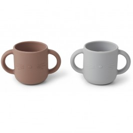 Gene Silicone Cup 2 Pack - Cat dumbo grey
