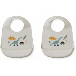 Set of silicone bibs - Dino Mix