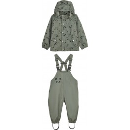 Rainwear set Dakota - Panda Faune Green