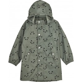 Long Raincoat Spencer - Panda Faune Green