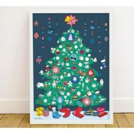 Coloring Poster Christmas - 100 stickers