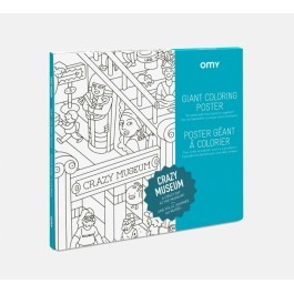 OMY Giant Coloring Poster - Crazy Museum