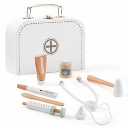 Βαλιτσάκι γιατρού με ξύλινα εργαλεία - Λευκό