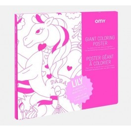 OMY Giant Coloring Poster - Lily
