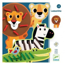 Wooden Lace Educational Toy- Animals