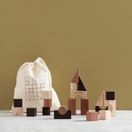 Ξύλινα τουβλάκια στοίβαξης - Kids Concept