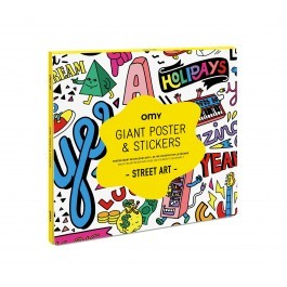 Poster Giant with sitckers - Street Art