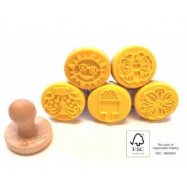 Wooden Stamps - Set of 5