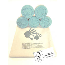 Wooden Stamps Animals- Set of 5