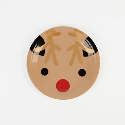 Small Paper Plates - Mini Reindeer