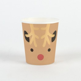 Paper Cups - Mini Reindeer