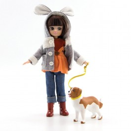 Walk with a dog Lottie Doll