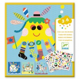 Create with stickers - Sea creatures