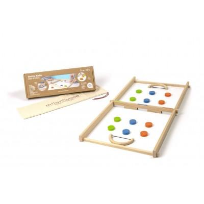 Ξύλινο επιτραπέζιο παιχνίδι - Δισκομαχία