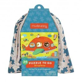Puzzle to go - Airplane in a bag, 36pcs