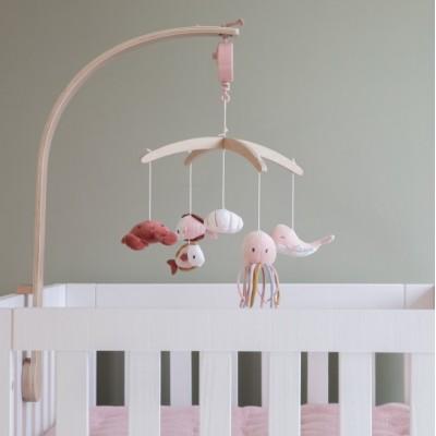 Μουσικό ξύλινο μόμπιλε κρεβατιού - Ocean Pink