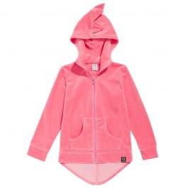 Hoodie Dino - Pink Velvet
