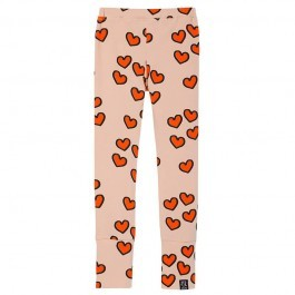 Leggings - Pale pink with hearts