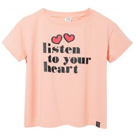 T-Shirt - Pale Pink Listen to your heart
