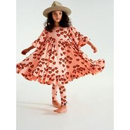 Boho Dress - Pale Pink Hearts