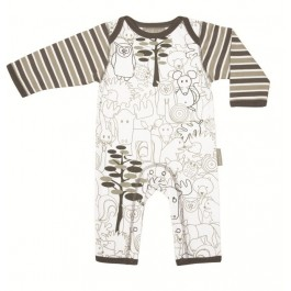 Organic jumpsuit ANIMAL