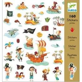 Sticker set 160 pieces - pirates