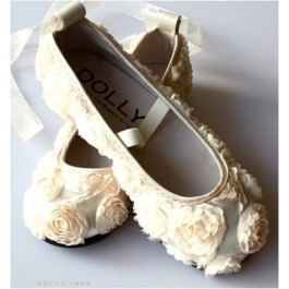 Dolly Girl Ballerinas Satin Cream