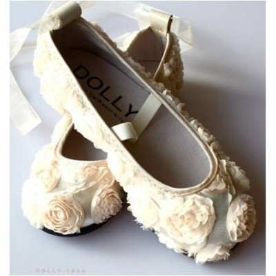 Dolly Girl Ballerinas Satin Cream