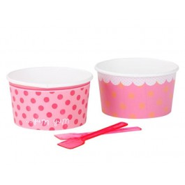 Pink n Mix Bowls & Spoons