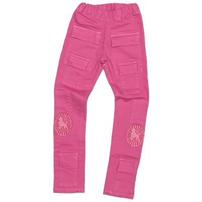 Stretch Pink Pocket Denim