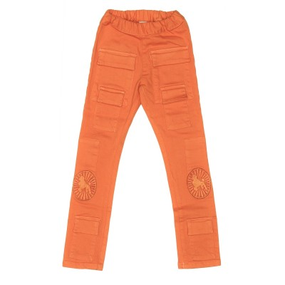 Stretch Orange Pocket Denim