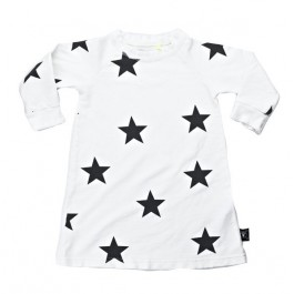 French Terry Dress with Stars