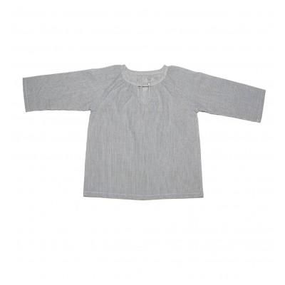 Ριγέ γκρι λευκό μπλουζάκι Ada Ada