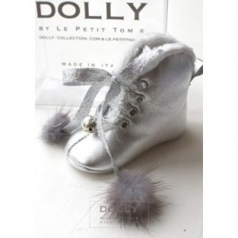 Silver Baby Boots with bells