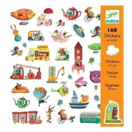 Set with 160 stickers - Transportation