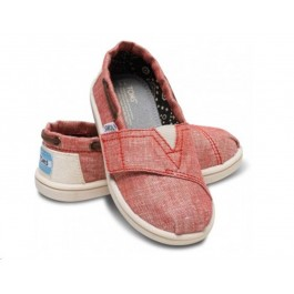 Red Leather TOMS shoes